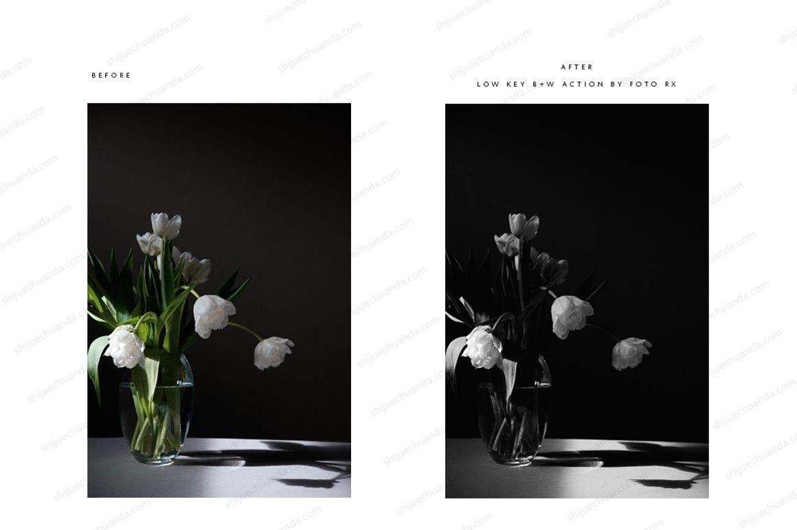 精美的黑色+白色PS动作