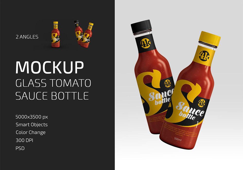番茄酱玻璃瓶样机模板