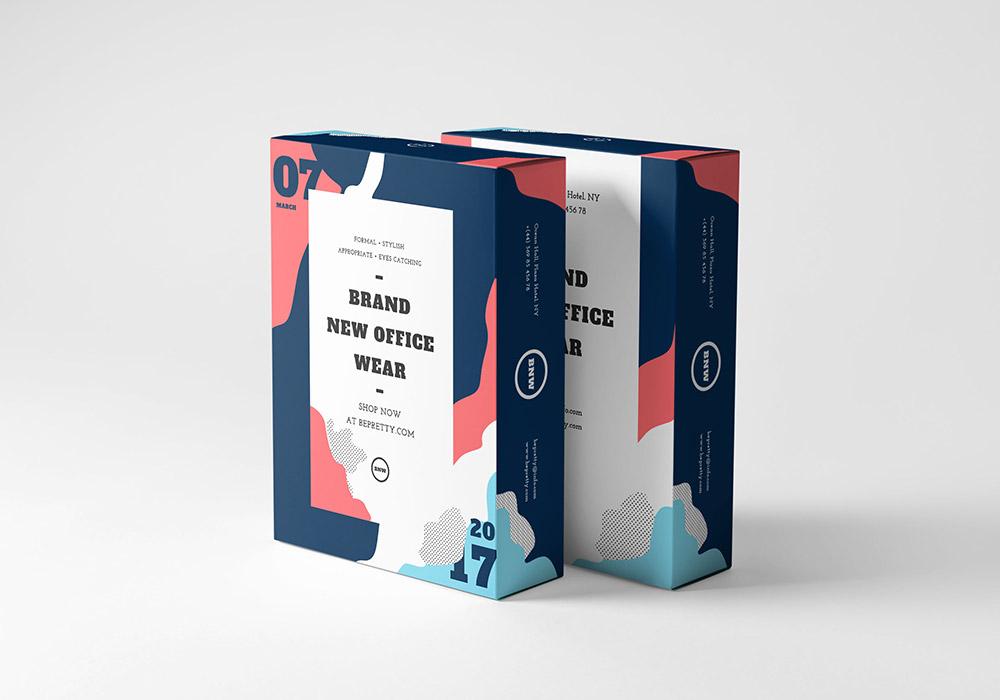 12款面膜铝箔纸包装袋包装盒样机贴图模板样机