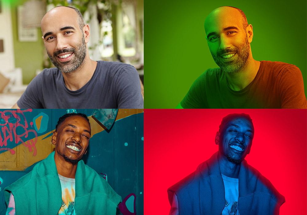 霓虹灯效果PS动作 Neon Light Studio Photoshop Action