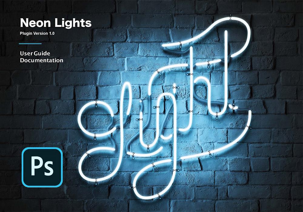 一键创建霓虹灯效果PS插件 Neon Lights(Win/Mac)