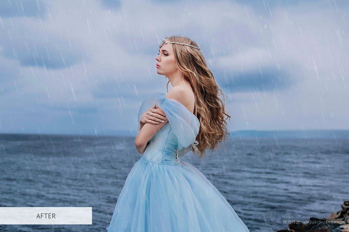 下雨场景PS覆盖层