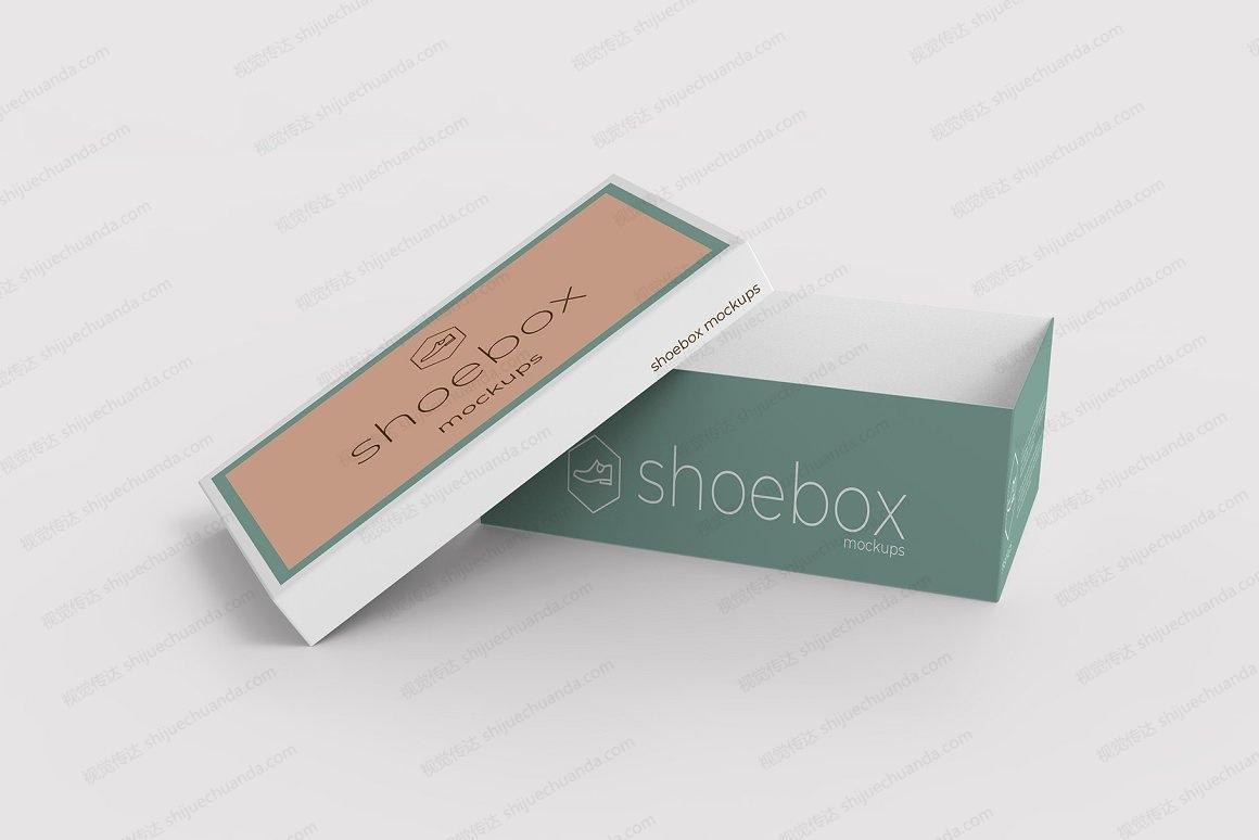 鞋盒纸质包装盒样机模板