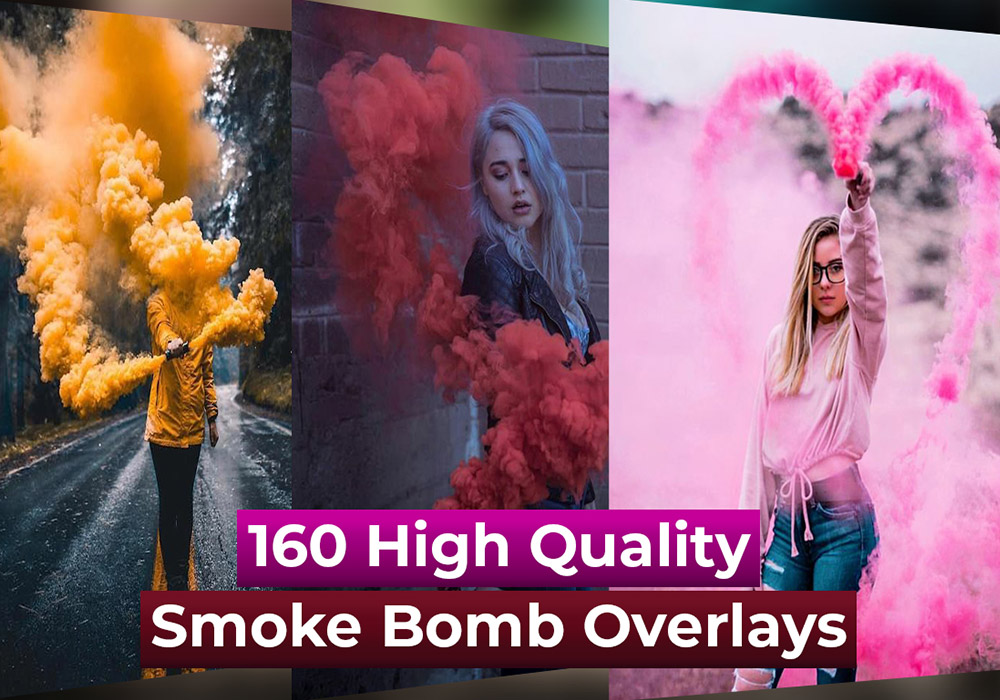 160个高质量烟雾弹照片PS叠加层