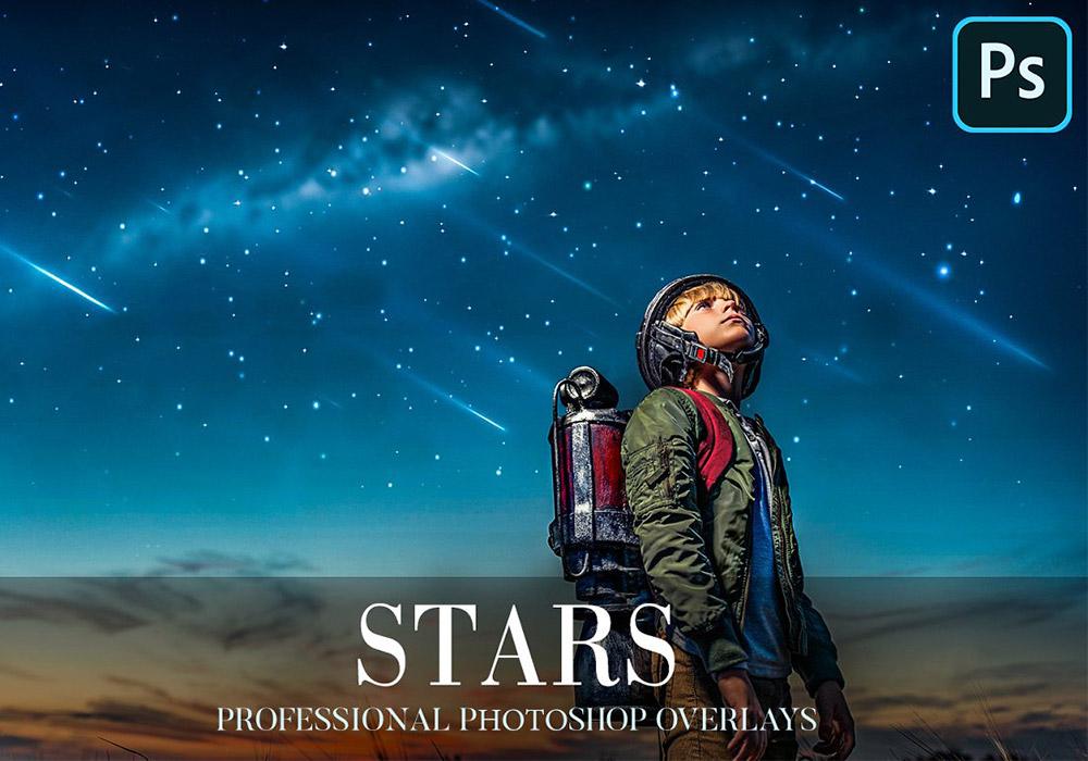 星空Photoshop照片覆盖层 Stars Overlays