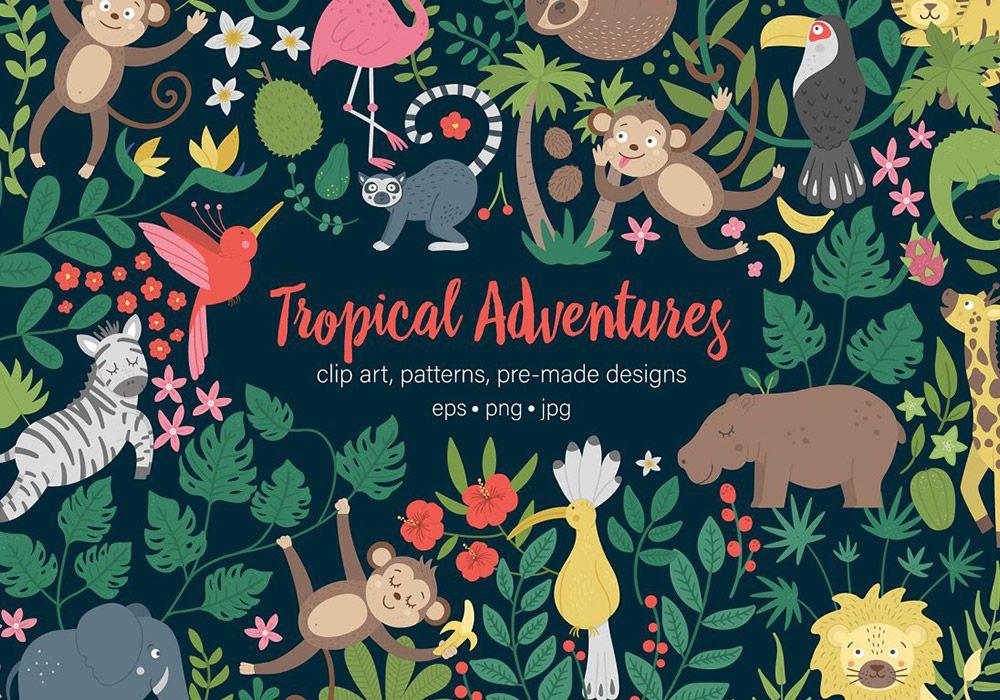 热带雨林设计元素包 Tropical Adventures