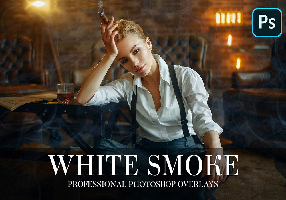 白色烟雾照片覆盖层