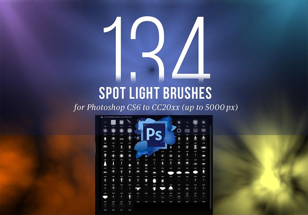 134个聚光灯PS笔刷 Spotlight Brushes for Photoshop