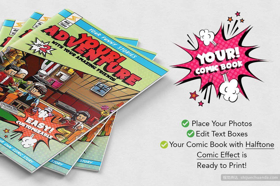 漫画书创作模板样机