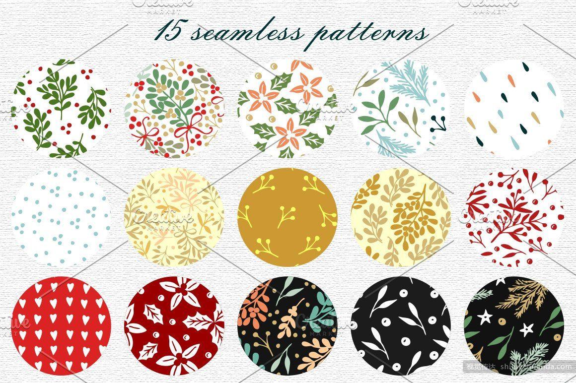 15种假日矢量纹理素材