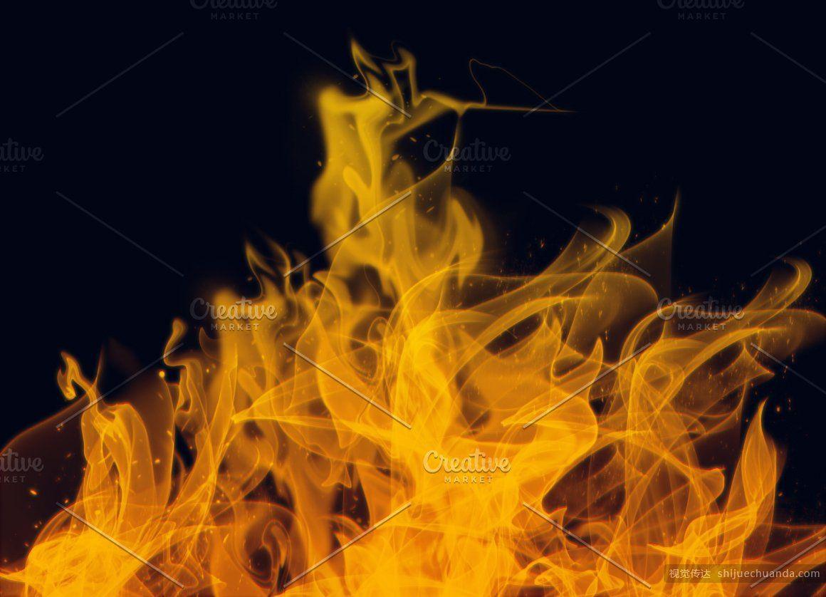 火与烟PS笔刷