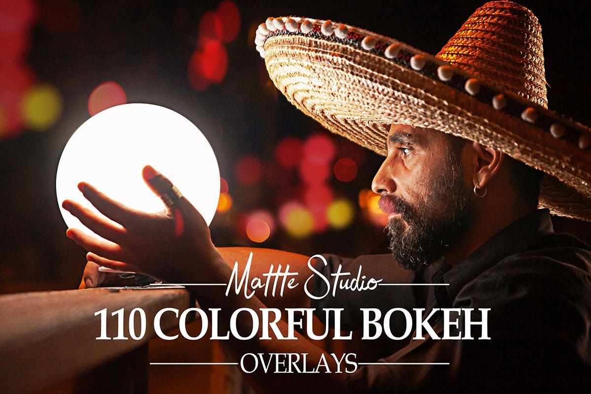 110张彩色散景光叠加层