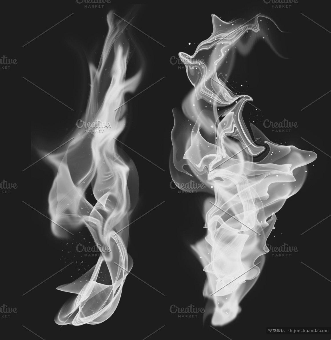22个烟雾PS笔刷