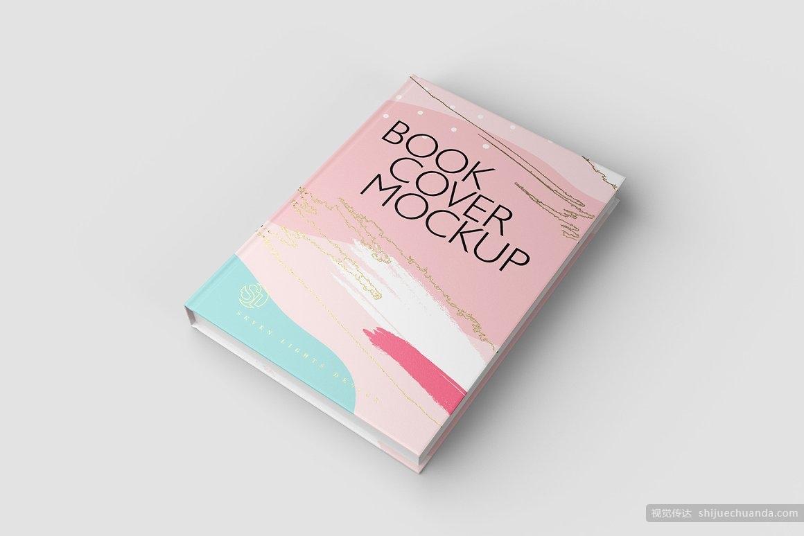 书籍封面样机模板