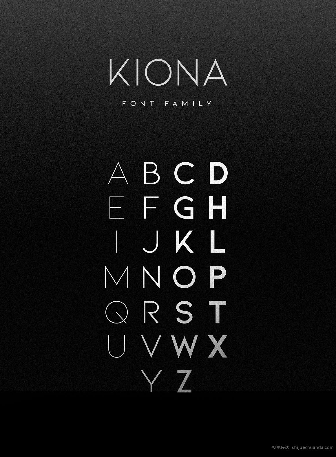 KIONA字体