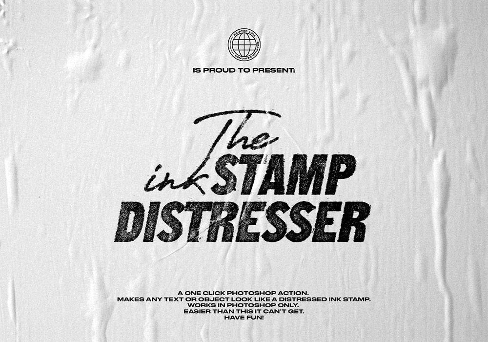 一键式墨水压印机效果 The Ink Stamp Distresser