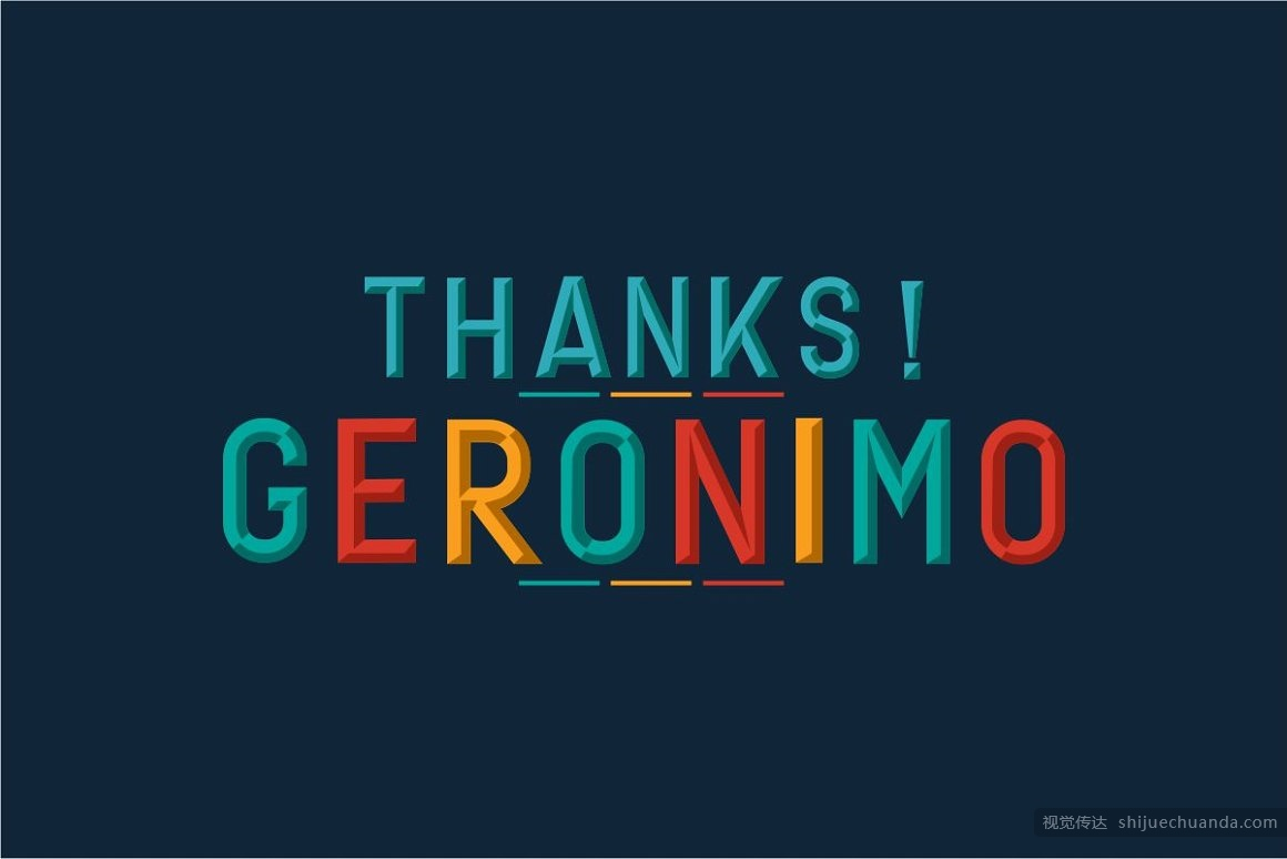 Geronimo Typeface Layer