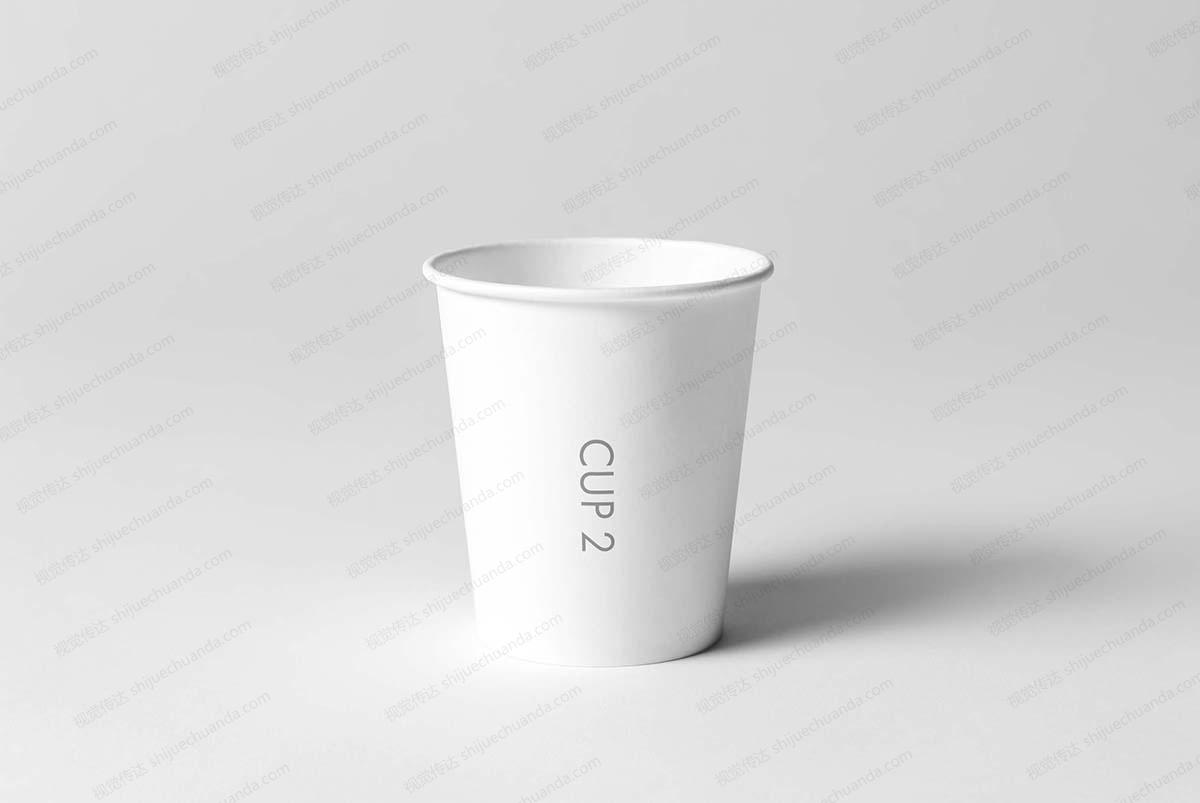 8个纸杯模型样机