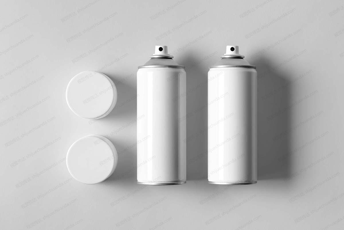 8个喷雾罐模型样机