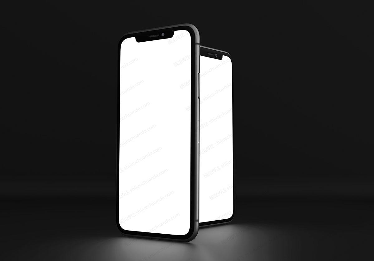17款不同角度苹果手机样机模板