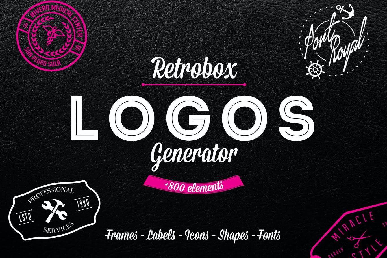 LOGO生成器包+800图标和元素