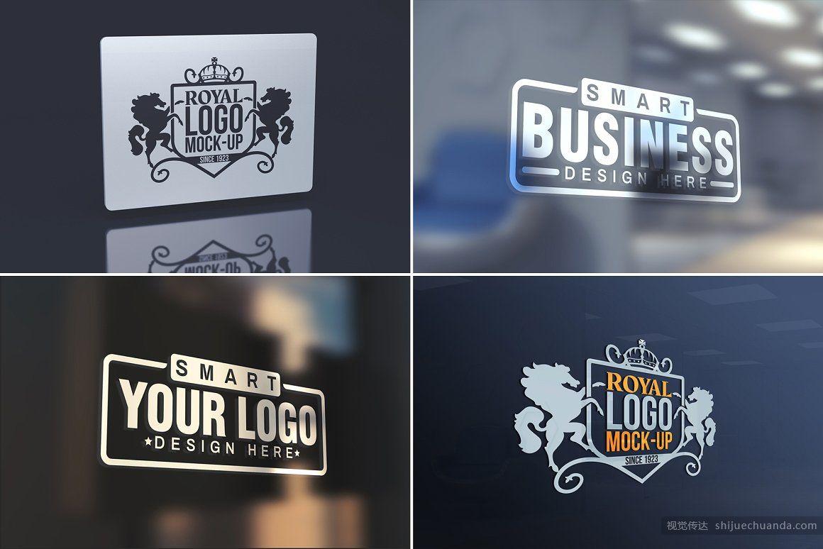 100个LOGO徽标样机套装