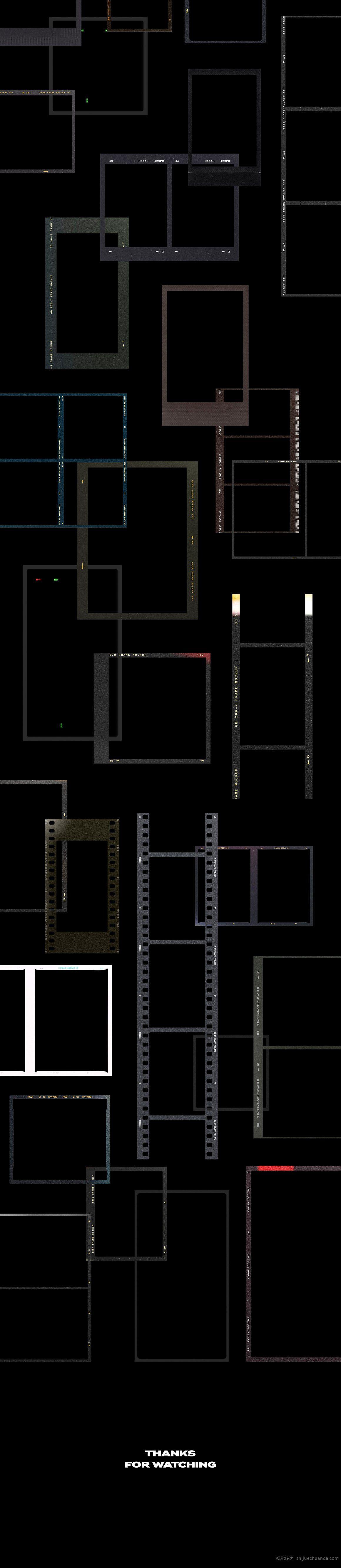 电影片段样机模板包