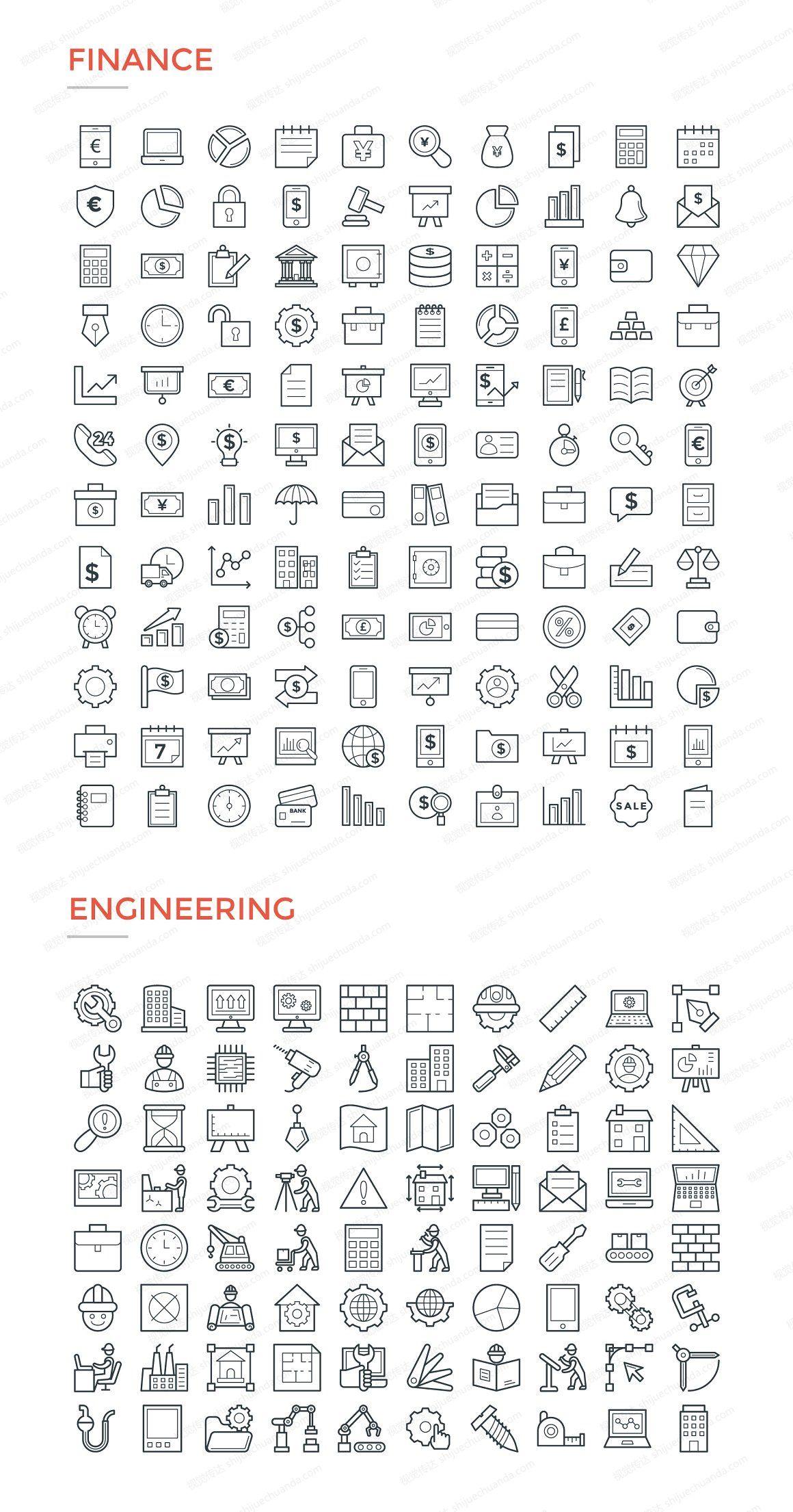 4800个线性图标合集