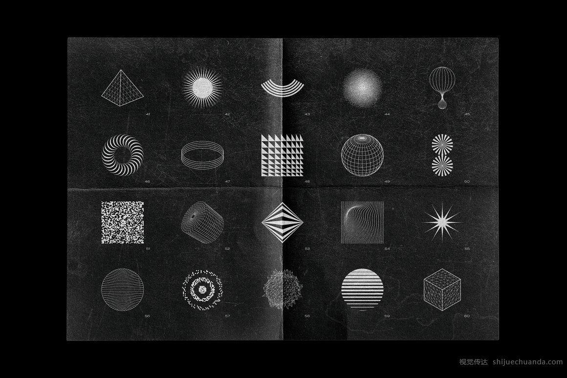 200个抽象的形状和背景