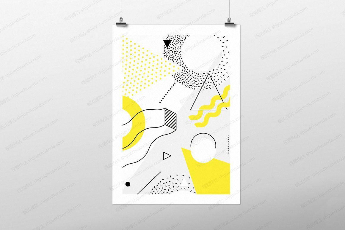 60个几何形状和30个海报矢量素材