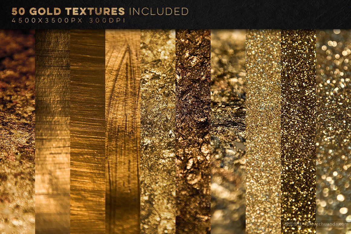 350张金属质感背景纹理合集