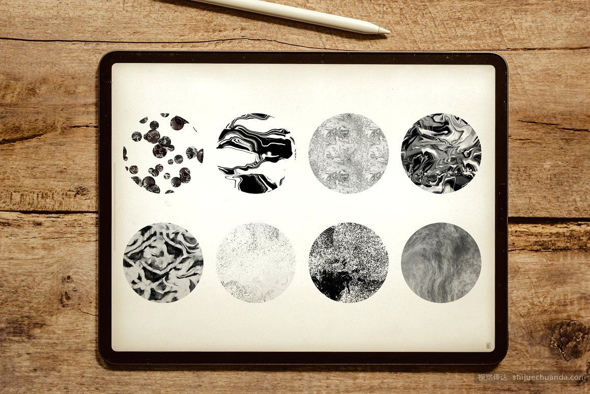 液体大理石纹理笔刷套装