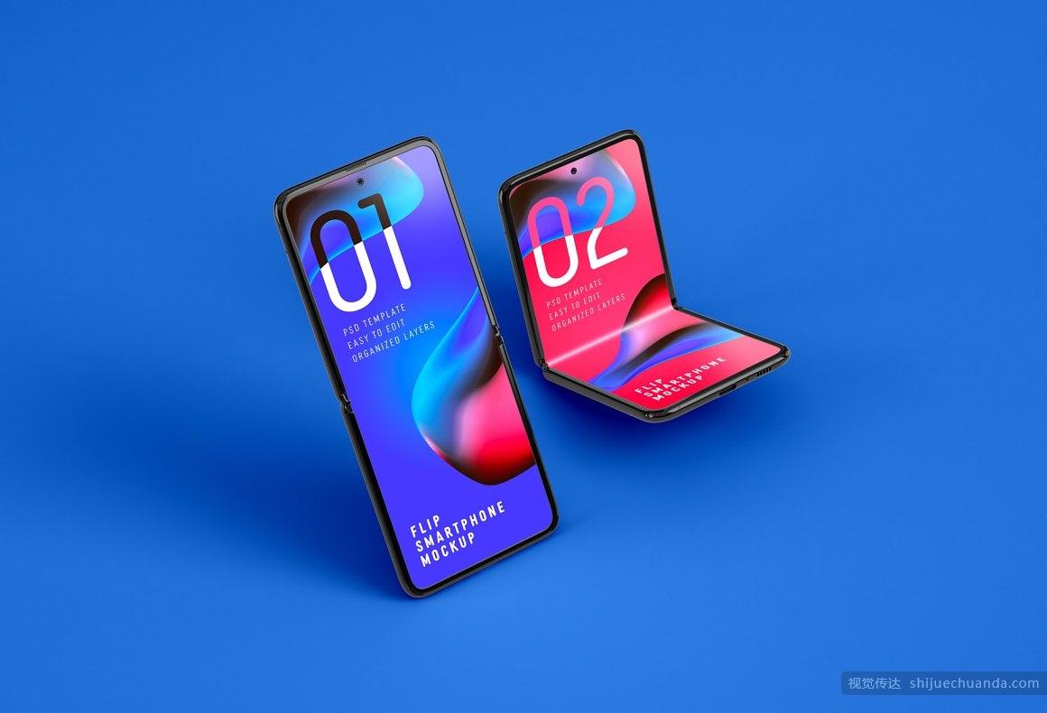 三星Galaxy Z折叠手机样机