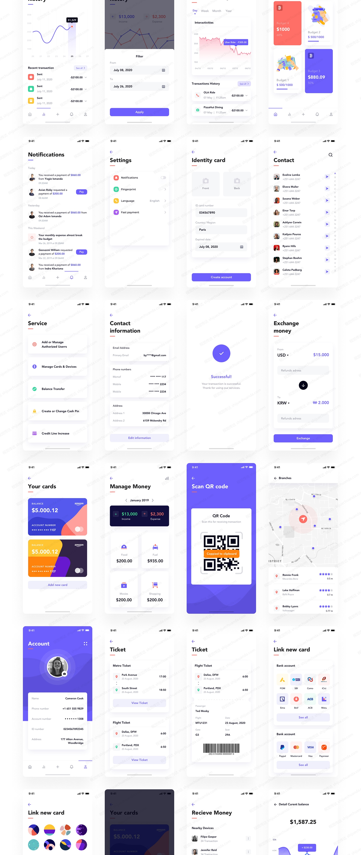 电子钱包现代App UI套件