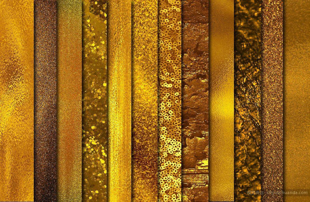 巨大的金箔纹理背景合集