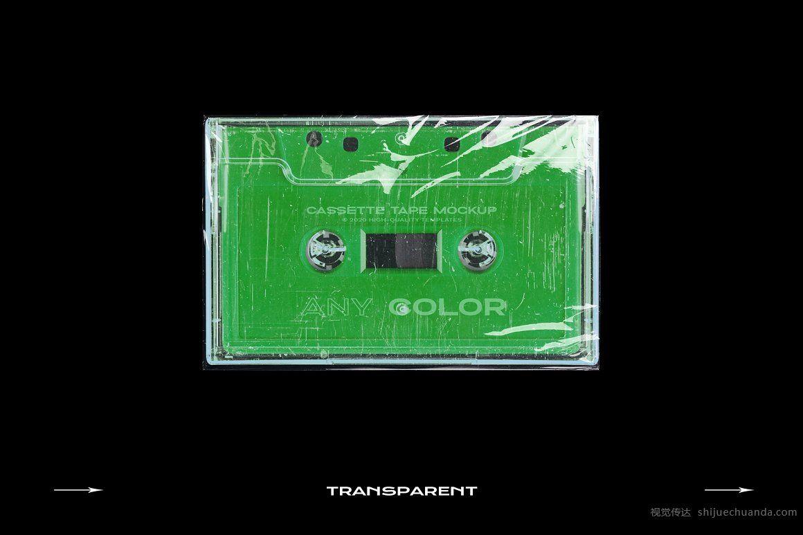 复古盒式塑料磁带样机