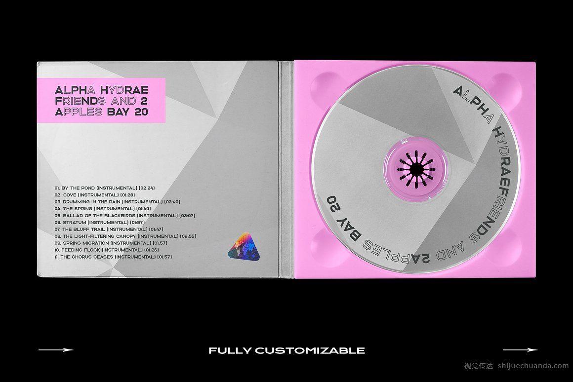 复古CD光盘盒样机模板