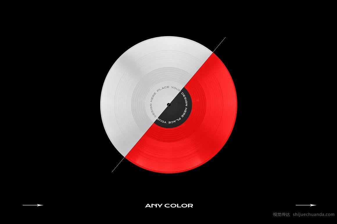光盘CD黑胶唱片样机模板合集