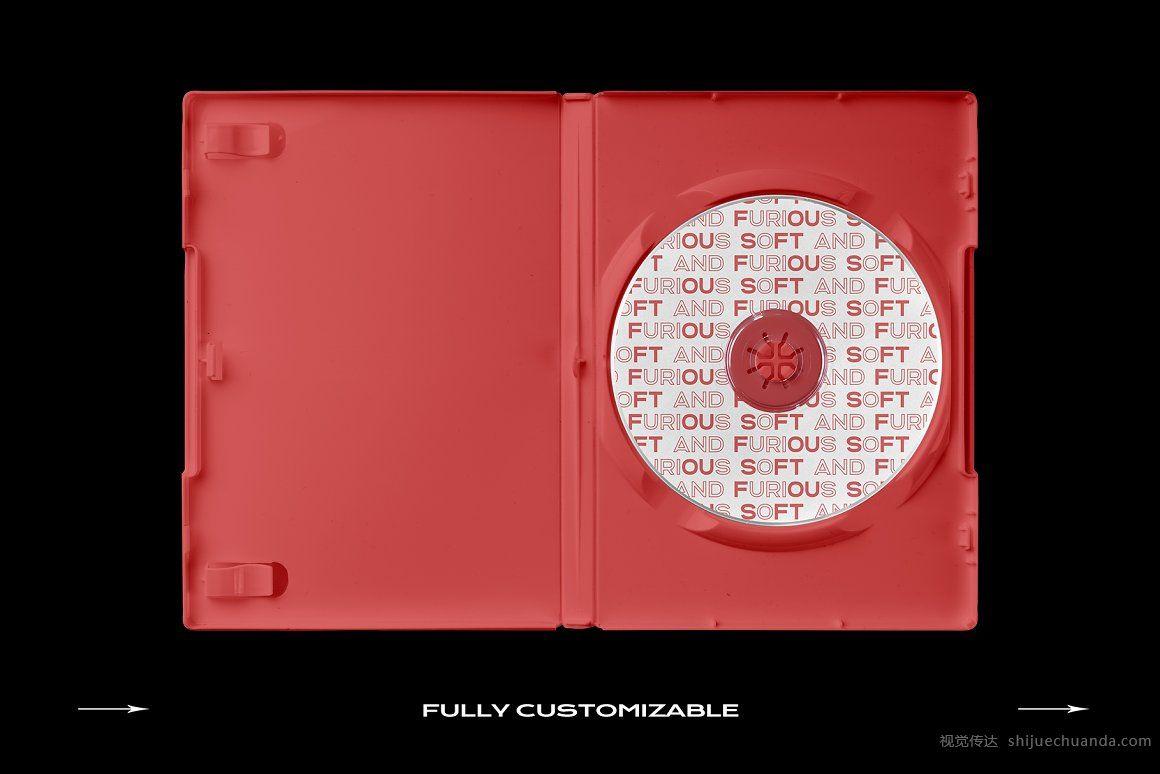 DVD光盘盒样机模板