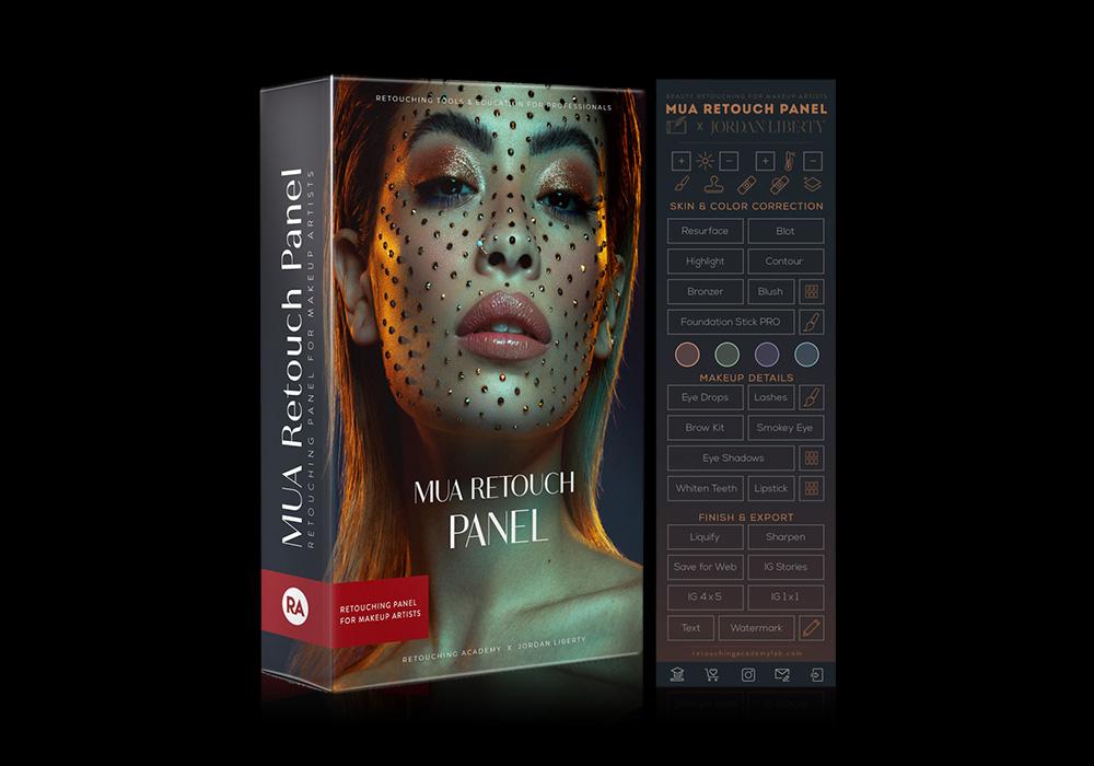 人像修饰终极插件面板 MUA Retouch Panel(Mac/Win版本)