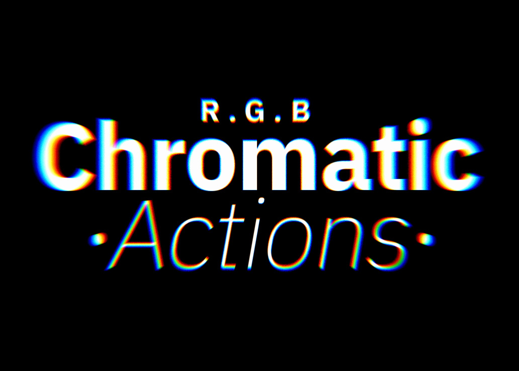色差PS动作 Chromatic Abberation Action FX(附教程)