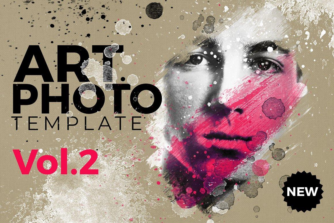 艺术写真/肖像样机模板 Art Photo / Portrait Template