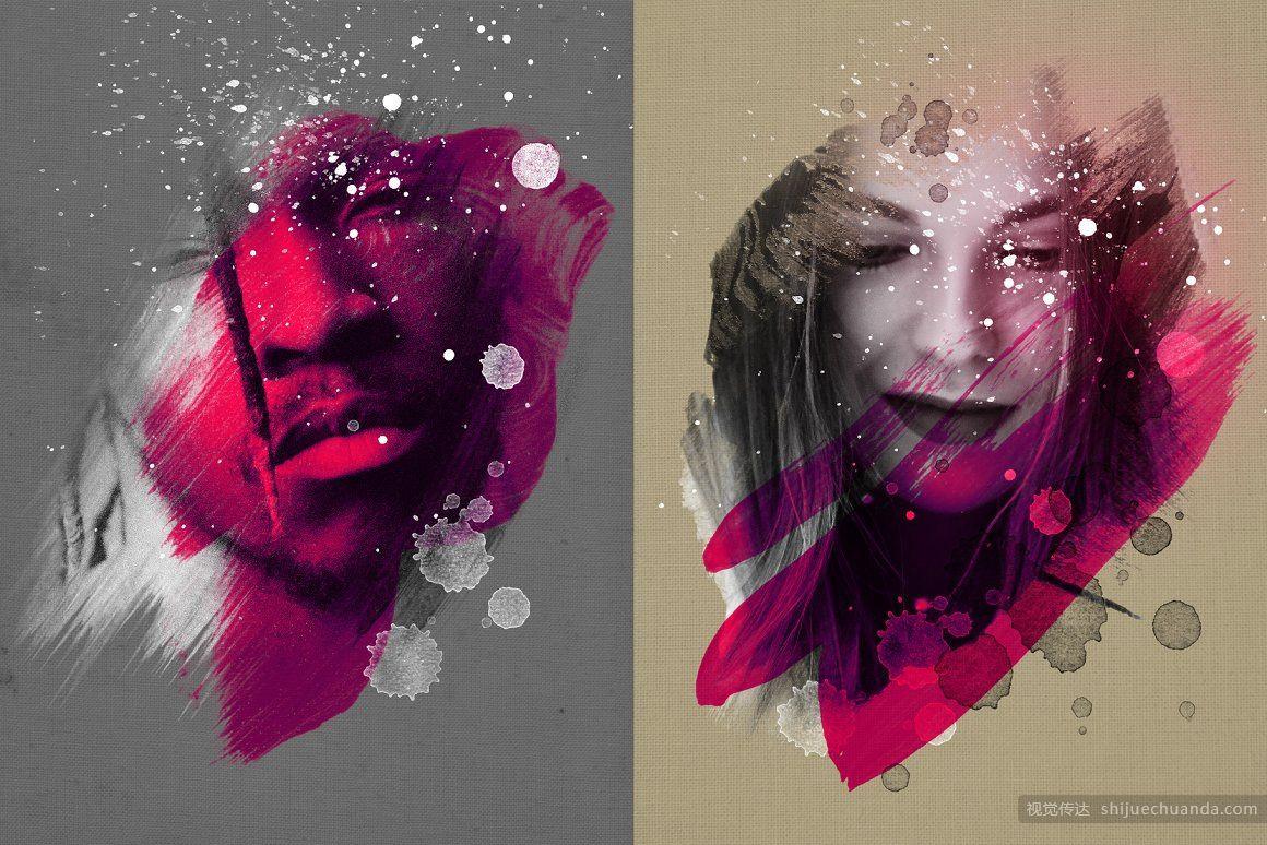 艺术写真/肖像样机模板