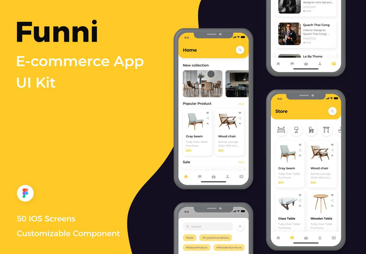 电子商务应用程序UI套件 Funni-E-commerce App UI Kit