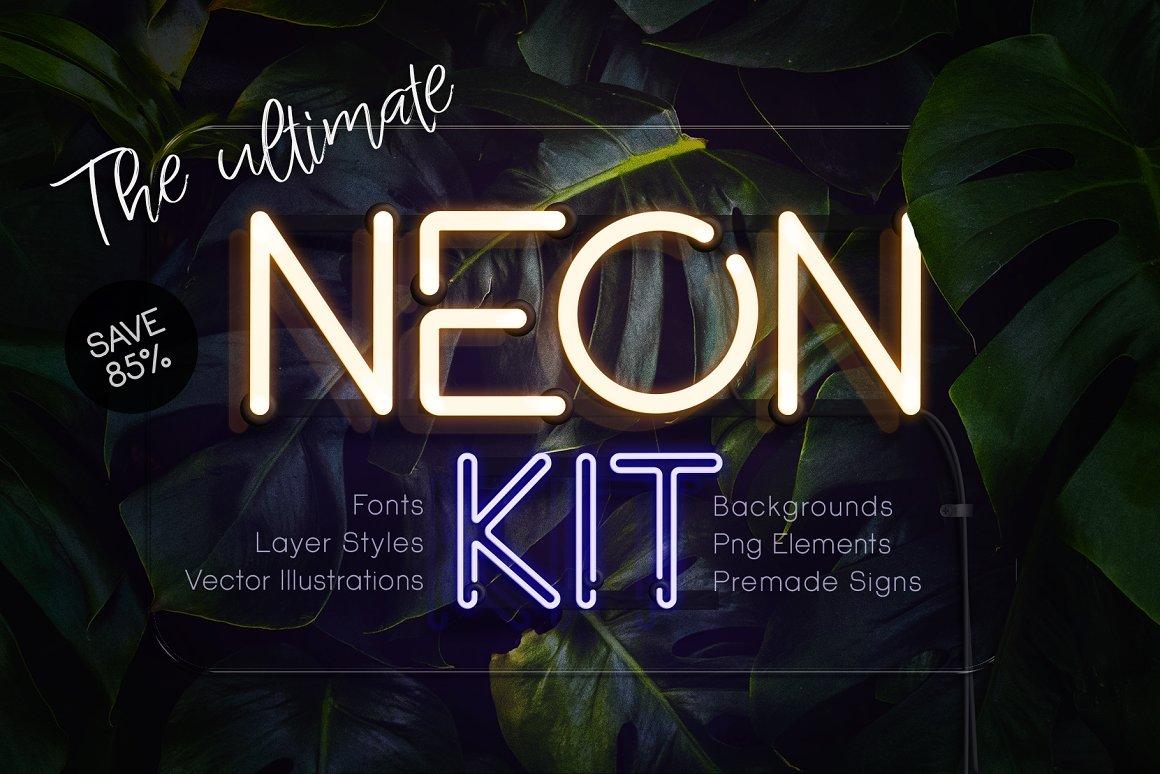 终极霓虹灯发光效果套件 The Ultimate Neon Kit