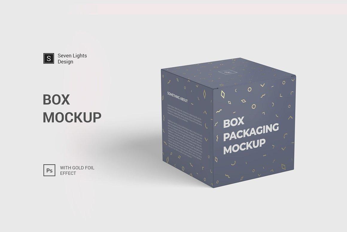 包装盒样机模板