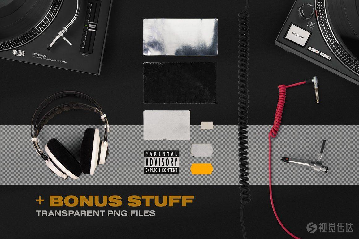 复古黑胶唱片包装样机