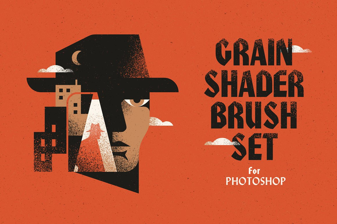 噪点PS笔刷 Grain Shader Brush Set for Photoshop