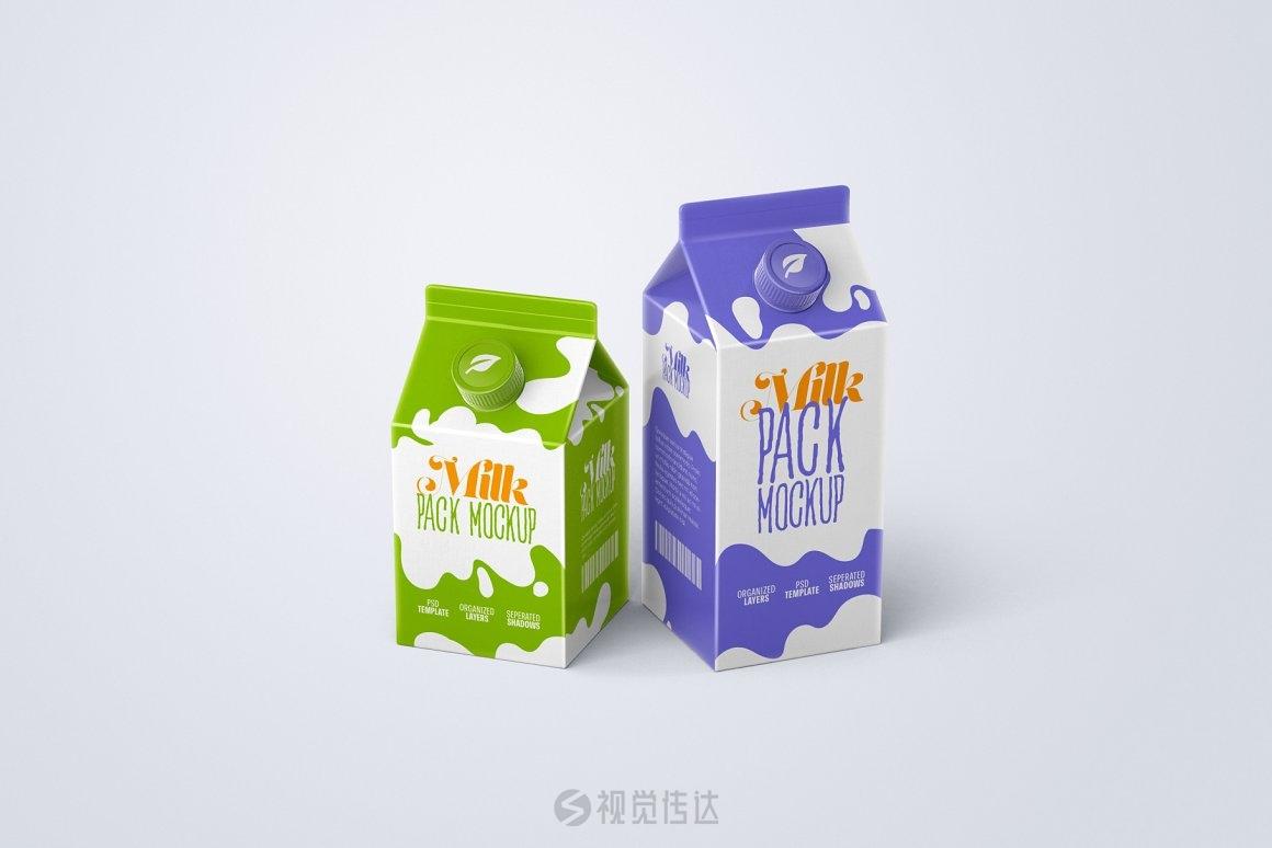 牛奶纸盒包装样机合集
