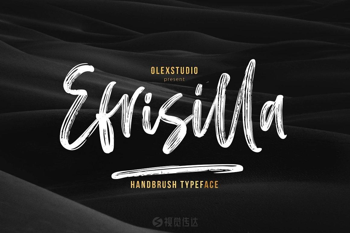 手写笔刷英文字体 EFRISILLA